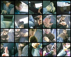 What can we do in a car with a camera-phone?